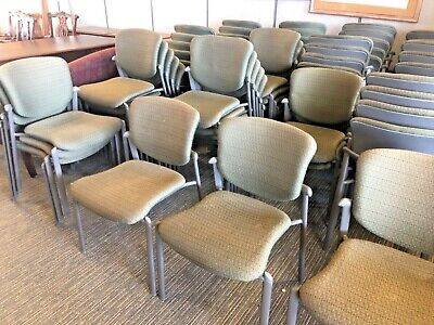 Heavy Duty Guest Side Lobby Stack Chair Wo Arms By Haworth Improv