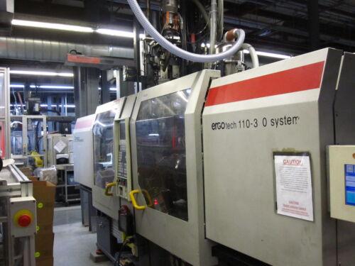 Demag 1100 310H/80V 120 Ton 3.3oz & 1.3 oz 2 shot Molding Machine (#10616)