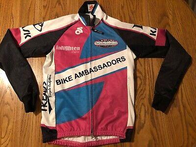 Champ-Sys.com Cycling Bike Wind Guard Shell Jacket Size Small Reflective Style