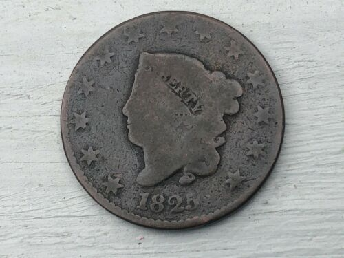 1825 LARGE CENT Undamaged Original Coin
