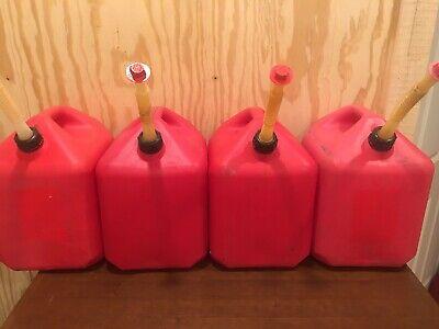 1 Midwest 5 Gallon Gas Can Vented Pre Ban W Flex Nozzle Spout Cap