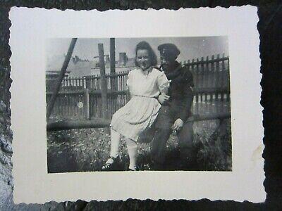 Original WWII German Kriegsmarine Sailor & Sweetheart Sit Together Photo