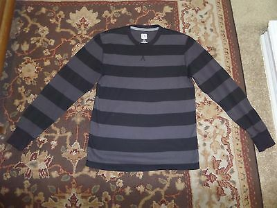 Op Mens Gray And Black Thermal Shirt Size M 38 40