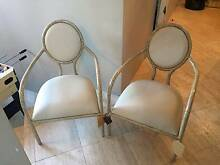 2 HIGH END DESIGNER LEATHER ARM CHAIRS BRAND NEW NEVER USED Hunters Hill Hunters Hill Area Preview