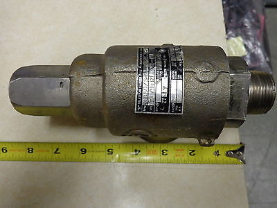 Safety Relief Valve 35 Psi 1 X 1-12 Npt Teledyne Farris 1850s4 S.stl Used