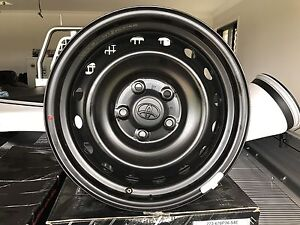 2017 hilux 4x2 steel rims and nuts North Tivoli Ipswich City Preview