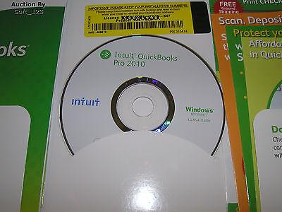 Intuit Quickbooks Pro 2010 For Windows Full Retail Us Version
