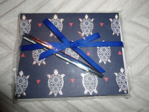 Vera Bradley Turtle Notecards and Ballpoint Pen nwt msp $18.00