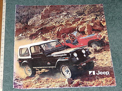 Jeep range brochure - c1977 -  incl CJ, Cherokee, Wagoneer & Pickup models. Mint