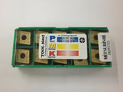 10pc Mitsubishi Cnmg 432gh 120408 Ue6020 Turning Coated Carbide Inserts 887so