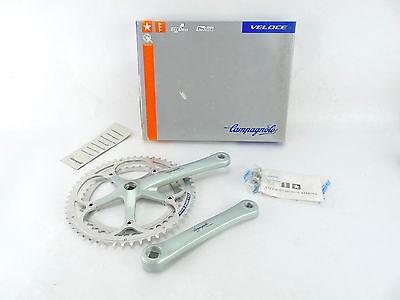 Campagnolo Veloce Crankset 172.5mm NIB 53-42 bolts Exa Drive 1995 NOS