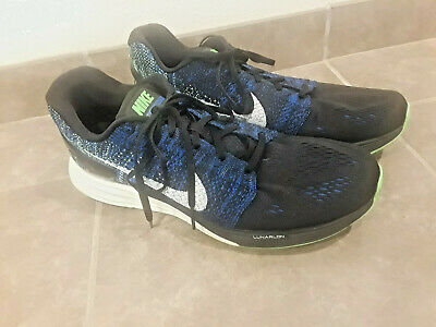 Nike Lunarglide 7 Men's Size 11 Running Shoes Sneakers Black Blue