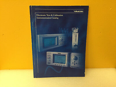 Wavetek Electronic Test Calibration Instrumentation Catalog