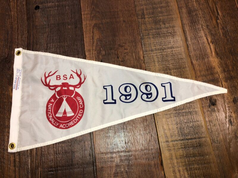 Boy Scout National Camp Accredited Banner 1991