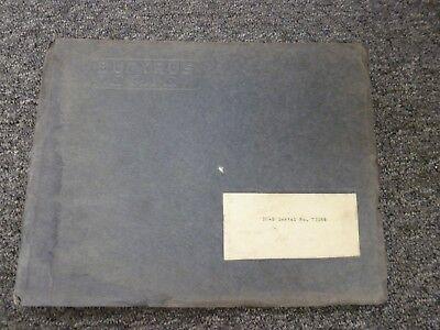 Bucyrus-erie Model 10-b Crawler Crane Shovel Dragline Parts Catalog Manual