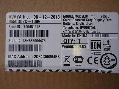 Avaya 9650c Color Display Ip Telephone Black Poe 700461213 Unused