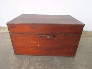 C50057 Small Vintage Rustic Timber Toolbox Storage Box Mount Barker Mount Barker Area Preview