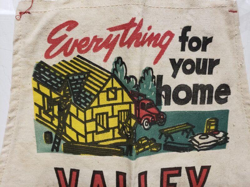 VINTAGE VALLEY LUMBER CO Apron NOS  House Truck Tonkawa Marland Billings Okla