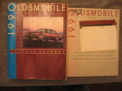 1990 Oldsmobile Factory Service Manuals & Parts List - Oldsmobile Factory Parts