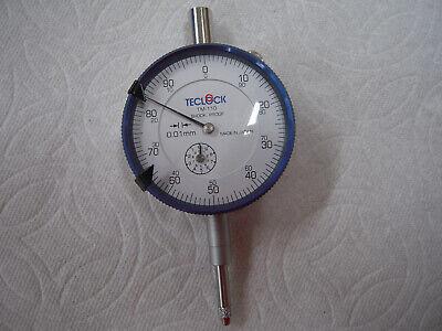 Teclock Tm-110 Metric Dial Indicator 0.01mm Range 0-10mm 8mm Stem Japan