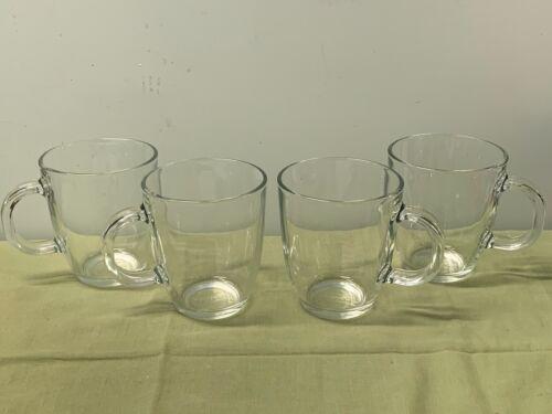 BODUM  BISTRO SINGLE WALL GLASS MUGS (4)