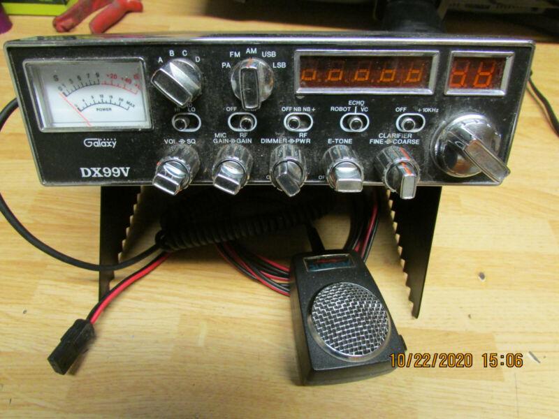 OLD SCHOOL GALAXY DX 99V 10 METER  RADIO