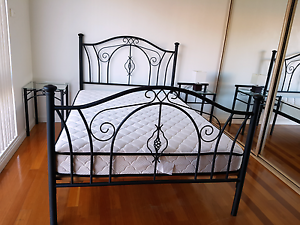 Double Bed Wrought Iron frame Cabarita Canada Bay Area Preview