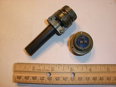 New - Ms3106a 16s-6s Sr With Bushing - 3 Pin Female Plug
