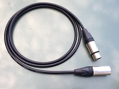 5' Canare Star Quad L-4E6S Interconnect - Mic Cable w Neutrik XLR_M TO XLR_F