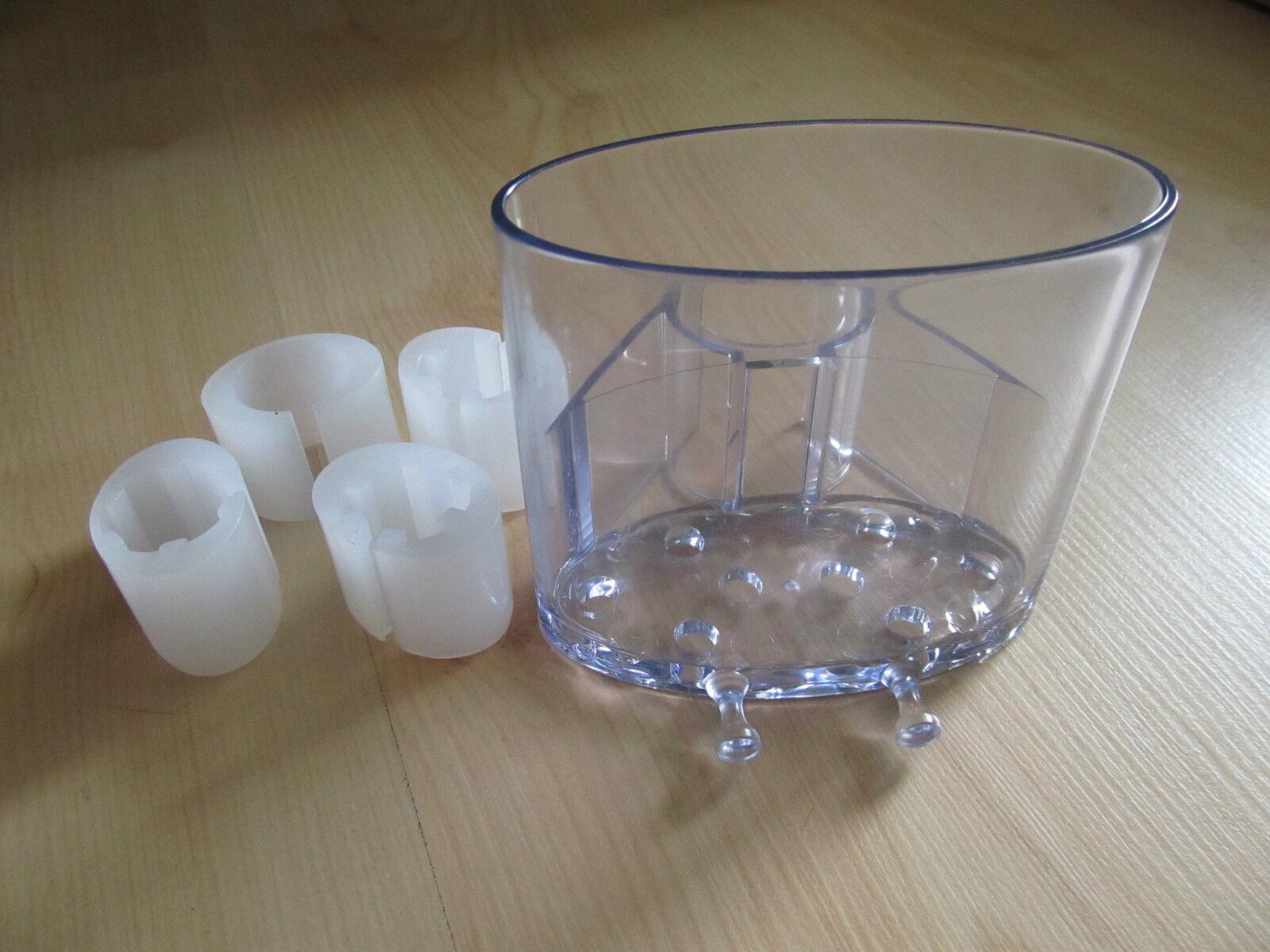 Duschgelhalter für  Brausestange Ø 18 ,19, 22 , 25 mm  Duschgelablage Clip- Fix