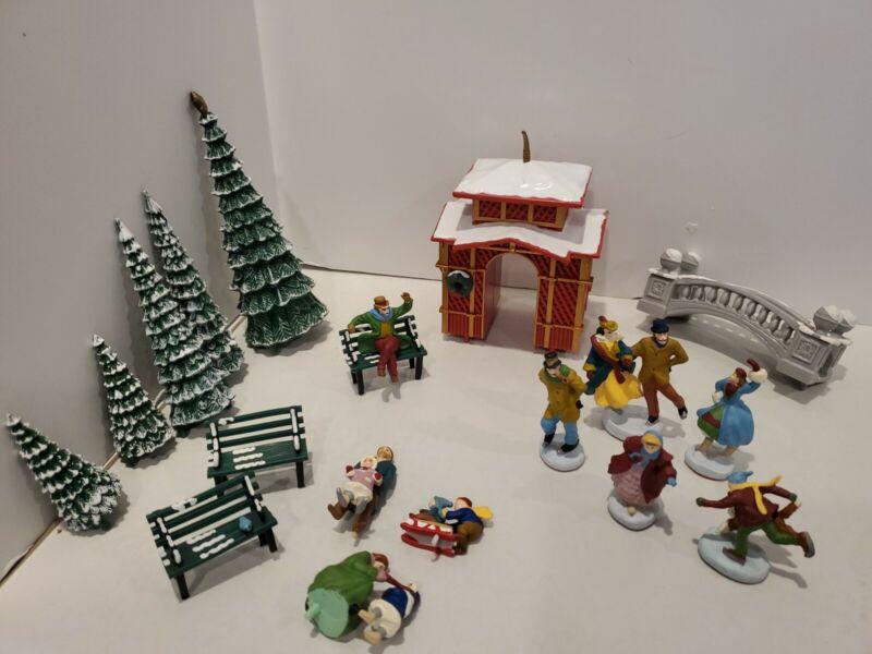 Vintage Christmas Village Accessories People Tree