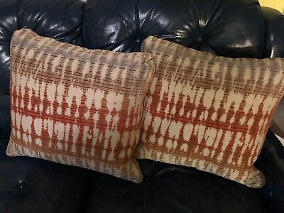 Pair Vintage Retro Dunlap Decorative Throw Pillows Color Fade VTG. 18