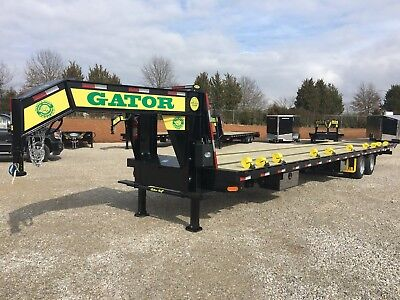 3010 Gator Gooseneck Hot Shot Hydraulic Dovetail Trailer With Air Ride