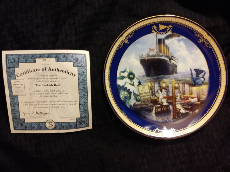"""Antique """"The Turkish Bath"""" Titanic Queen of the Ocean authentic plateware #569A"""