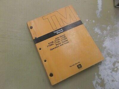 John Deere 770bh 772b 772bh Motor Grader Operation Test Repair Manual Tm1452