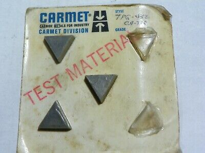 3 Pieces Carmet Tpg 432 Ca-720 Carbide Inserts  F733