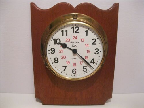 Canadian National Railway Bulova Wall Clock Made in Germany CN CNR