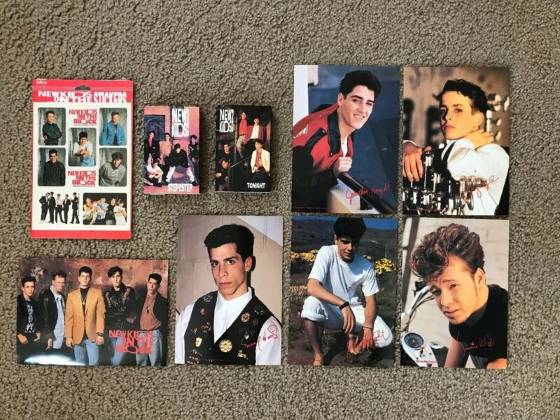 Lot Of NKOTB New Kids On The Block Cassette Singles Unopened Stickers Photos