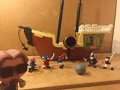 Fisher Price Great Adventures PIRATE SHIP Figures LOT BAD BONES SKELETON MATES