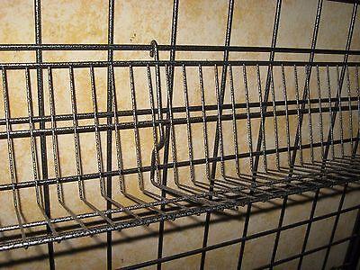 Metal Grid Wall Shelves- Hammer Tone Color