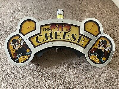 """Vintage Slot Machine Topper Sign """"THE BIG CHEESE """" Wall Art Advertisement"""