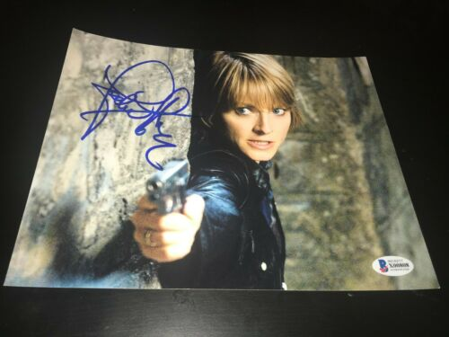 JODIE FOSTER SIGNED AUTOGRAPH 8x10 PHOTO SILENCE OF LAMBS ACTION BECKETT BAS D