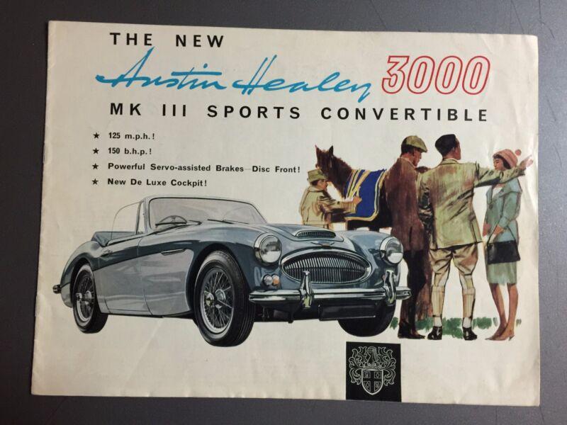 1962 Austin Healey 3000 Sports Convertible Brochure English RARE!! Awesome