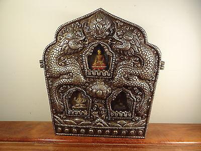 LG Old Tibetan Silver GAU BOX (Little Buddha House)