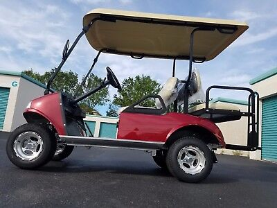 New 2018 Candy Apple Red Evolution EV Golf Cart Car 4 Passenger seat 48v fast
