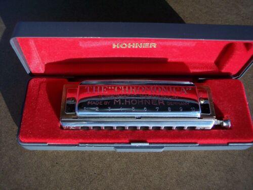 "Vintage Hohner ""CHROMONICA 260"" Harmonica with Case Key G 10-Hole Made Germany"