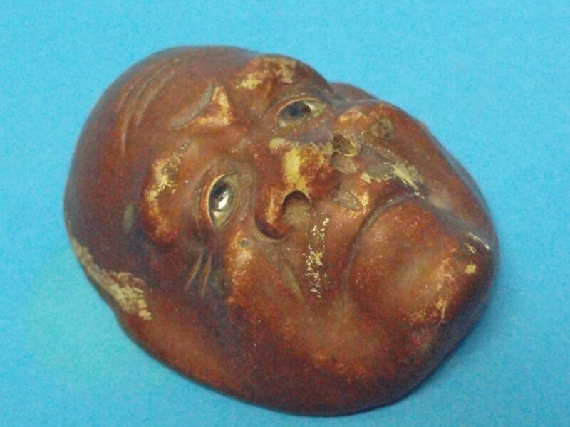 ANTIQUE 19 c / EARLY 20 c MEIJI JAPANESE MINIATURE GIGAKU MASK
