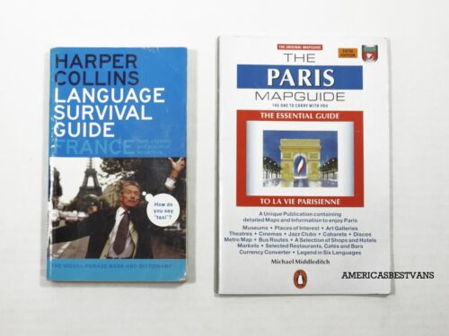 HARPPER COLLINS LANGUAGE SURVIVAL GUIDE FRANCE,PARIS MAP GUIDE TRAVEL