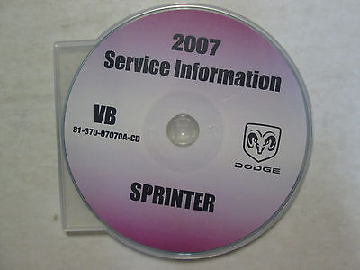 2007 DODGE SPRINTER Service Workshop Shop Repair Manual CD DEALERSHIP BRAND NEW