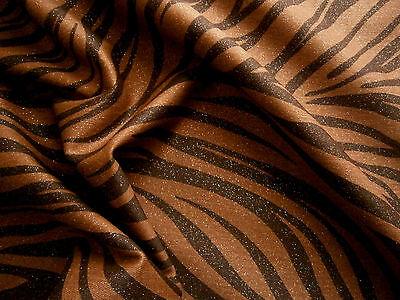 DENIM,Animal Print ,Köper,Jeans,Baumwolle,Meterware,Kleiderstoff,Braun,Gold (Braune Denim-stoff)